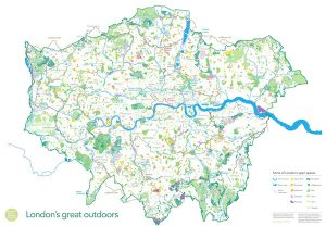 Map of London as a National Park City